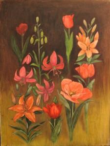 Liljoja ja tulppaaneita