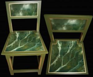 Talonpoikaistuoli marmorimukailulla